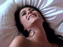 Cul, Chambre à dormir, Couple, Éjaculation interne, Mignonne, Petite amie, Chatte, Maigrichonne