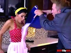 Horny Wife Peta Jensen only wants to fuck on kitchen