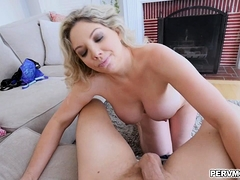 Stepson fucked Kikis big fat hairless pussy