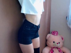 Hottest and Roundest 19yo College Teen Ass on Webcam