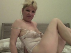 Mature solo model going naughty once again