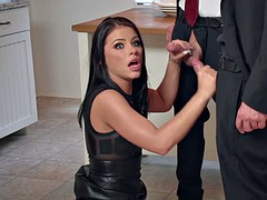 Adriana Chechik gets massive facial after gangbang