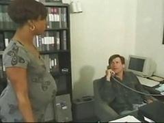 黒人, オフィス, 妊娠