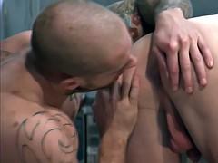 bald toned studs ejaculation