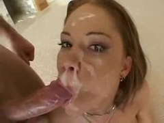 Amee Donovan swallow loads of cum in group-fuck episode