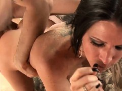 Sexy Kendra takes on two massive rods