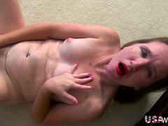 USAwives Older Mature Lisal Sexy Striping down