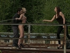 European broad gets punished in public