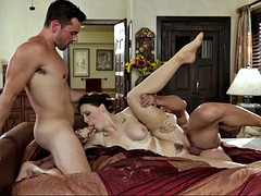 sex addicted milf chanel preston fucks her hubby and ex bf in threesome
