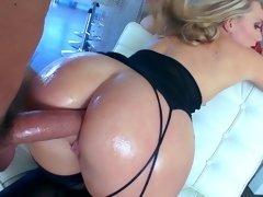 Анальный секс, Большая жопа, Блондинки, Минет