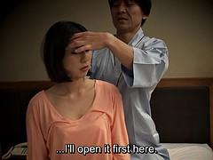 subtitled Japanese massage hotel nanpa oral sex in HD