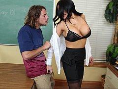 Big Tits Teacher Fucks Her Big-Dick Student at the Office