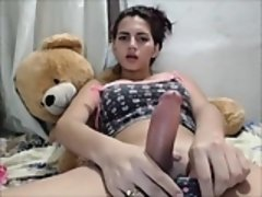 Leie, Grosse titten, Masturbation, Transfrau, Solo, Netzkamera