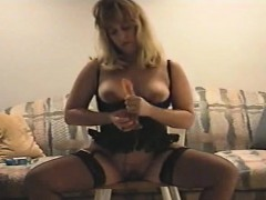 Hot partner in corset dildo driving that is hot