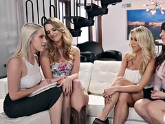 Kenna watches in disgust as Katie spreads her legs apart and orders Cadence to eat her juicy pussy
