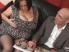 Immense Bra-Stuffers Mature Roxy J Gets Banged