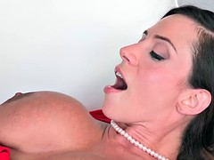 Teen and milf threesome sex like a pro