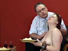 Disgusting food humiliation and cruel domestic discipline