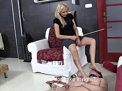 Lady Zsi Spit & Piss On Her Slave