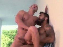 Buff bear fucks and cums