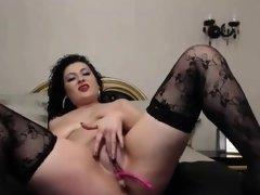 Hot milf enjoys vibrator in her pussy