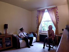 Horny Polish chick sucks and fucks a lucky cop in a uniform