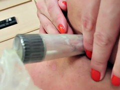 bigboobed shemale jerking off from