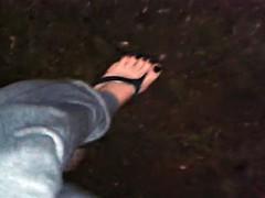 wet and sexy flip flops