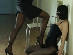 Secret women giving head strap on dildo