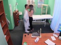 Fake Hospital Doctors bruised bollocks healed by pussy lips