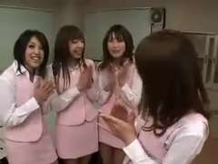 four japanese office wailing and their boytoy
