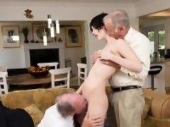 Young Slut Alex Harper Gets Shared By Old Men