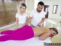 Big Tits Miss Raquel suck and fuck on massage