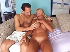 Granny has some huge jugs & makes love & sucks a hard love tool