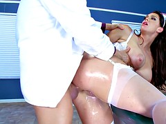 nurse alison tyler has her ass hole pounded by dr. corvus