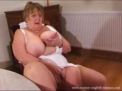 Grown-up English Amateur Real bbw Granny