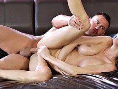 pristine edge gives a massage to a hunk before a fuck