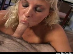 Natural MILF Hot Blowjob