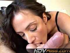 Brunette Ariella Ferrara Suck a Big Dick in POV Cum on Face