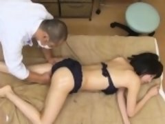 Asian MILF gives soapy massage