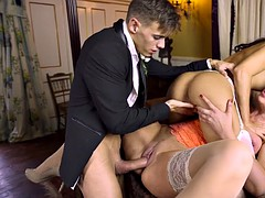 bride carolina abril and wedding guest leigh darby fuck the fiance