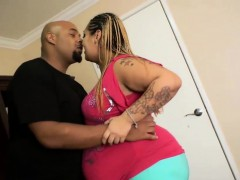 Fat and pregnant bitch gets rammed