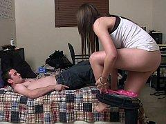 18 летние, Любители, Подружка, Секс без цензуры, Домашнее видео, Натуральные, Тощие, Студентка
