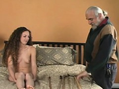 Exposed woman drubbing video with thraldom