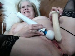 Mature Blond Mom with Hairy Pussy