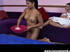 hot babes massage and please one another