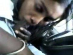 Desi- malaysian tamil girl giving bj in car