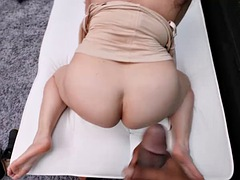 chubby funster is ready to plunge on massive cock on sight