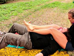 the voyeur - outdoor foot domination