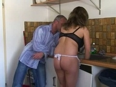 German Vagina making love in kitchen love bubbles